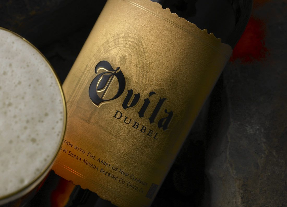 Beer label for Ovila Dubbel brewed by Sierra Nevada
