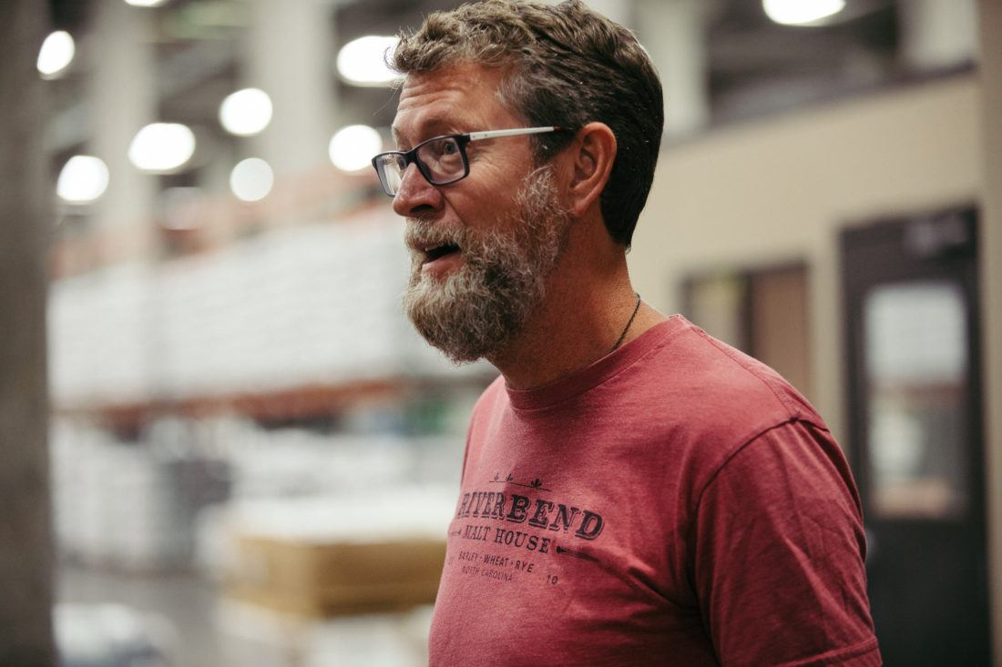 Brian Simpson founding partner of Riverbend Malt House in Asheville, North Carolina