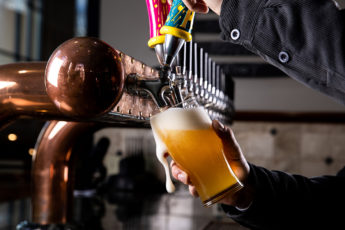 Pouring a glass of Hazy Little Thing IPA